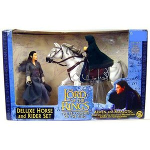 ロード オブ ザ リング トイビズ フィギュア おもちゃ The Lord of the Rings Deluxe Horse and Rider Set Arwen & Asfaloth Action Figure Set|fermart-hobby