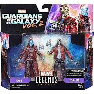 ガーディアンズ オブ ギャラクシー Guardians of the Galaxy ハズブロ フィギュア おもちゃ Vol. 2 Marvel Legends Star-Lord & Yondu Action Figure 2-Pack|fermart-hobby
