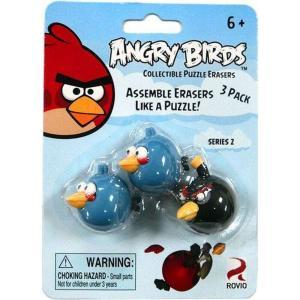 アングリーバード Angry Birds MZB MZB Imagination 消しゴム おもちゃ Collectible Puzzle Erasers Series 2 Eraser 3-Pack [2 Blue & 1 Black]|fermart-hobby
