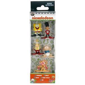 ニコロデオン Nickelodeon フィギュア Nano Metalfigs Spongebob, Gerald, Heffer, Tommy Pickles & Ren 1.5-Inch Diecast Figure 5-Pack|fermart-hobby