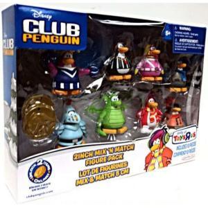 クラブ ペンギン Club Penguin ジャックスパシフィック Jakks Pacific フィギュア おもちゃ Mix 'N Match Mini Figure Set #3 [Set #3]|fermart-hobby