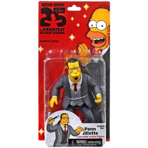 ザ シンプソンズ The Simpsons フィギュア シリーズ3 Greatest Guest Stars Series 3 Penn Jillette Action FIgure|fermart-hobby