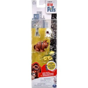 ザ シークレット ライフ オブ ペッツ スピンマスター フィギュア おもちゃ Mini Pets Silver Max, Snowball, Duke & Iguana Figure 4-Pack|fermart-hobby