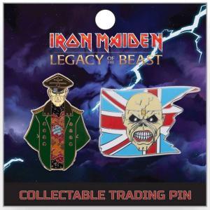 アイアン メイデン Iron Maiden グッズ : Legacy of the Beast Corrupt General & Trooper Eddie 2-Inch Lapel Pin Set|fermart-hobby