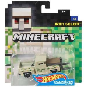 マインクラフト Minecraft おもちゃ・ホビー Hot Wheels Iron Golem Diecast Character Car #4/6|fermart-hobby