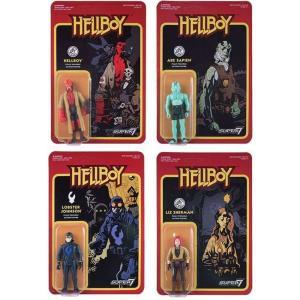 リアクション ReAction フィギュア Hellboy Series 1 Hellboy, Abe, Lobster & Liz Set of all 4 Action Figures|fermart-hobby