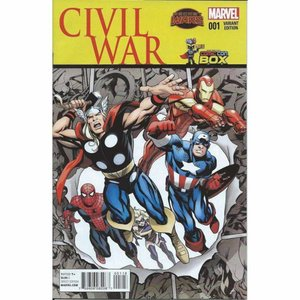 マーベル Marvel おもちゃ Civil War #1 Comic Book [Comic Con Box Variant Cover]|fermart-hobby