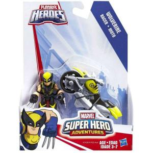 ウルヴァリン Wolverine ハズブロ Hasbro Toys フィギュア おもちゃ Marvel Playskool Heroes Super Hero Adventures with Racer Vehicle & Figure|fermart-hobby