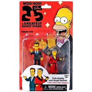 ザ シンプソンズ The Simpsons フィギュア 2点セット Greatest Guest Stars Series 1 Tom Hanks & Hugh Hefner 3-Inch Mini Figure 2-Pack|fermart-hobby