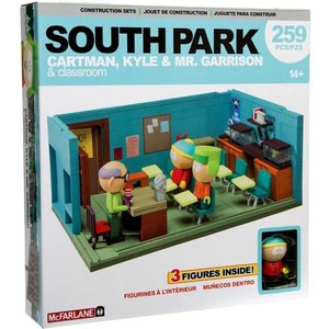 サウスパーク South Park マクファーレントイズ McFarlane Toys おもちゃ Mr. Garrison, Kyle & Cartman With Classroom Large Construction Set|fermart-hobby