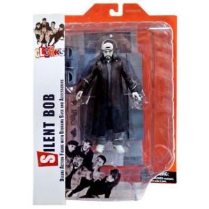 クラークス Clerks ダイアモンド セレクト Diamond Select Toys フィギュア おもちゃ Silent Bob Action Figure [Black & White]|fermart-hobby