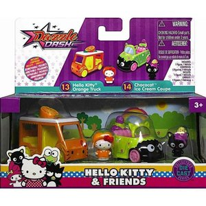 ハローキティ Hello Kitty おもちゃ・ホビー 2点セット Dazzle Dash Orange Truck & Chococat Ice Cream Coupe Diecast Vehicle 2-Pack|fermart-hobby