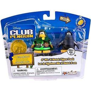 クラブ ペンギン Club Penguin ジャックスパシフィック Jakks Pacific フィギュア おもちゃ Mix 'N Match Series 8 Ranger & Ninja Mini Figure Set|fermart-hobby