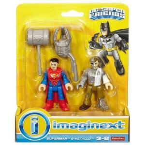 スーパーマン Superman フィギュア DC Super Friends Imaginext & Metallo 3-Inch Figure Set|fermart-hobby