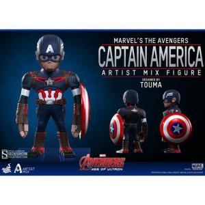 キャプテン アメリカ Captain America ホットトイズ フィギュア おもちゃ Marvel Avengers Age of Ultron Artist Mix Figure Series 1 Action Figure|fermart-hobby