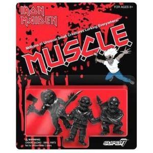 アイアン メイデン Iron Maiden おもちゃ・ホビー 3点セット M.U.S.C.L.E. 1.75-Inch 3-Pack [Black]|fermart-hobby