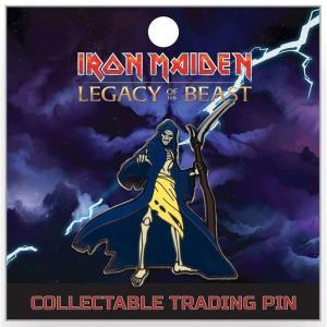 アイアン メイデン Iron Maiden グッズ : Legacy of the Beast Grim Reaper Eddie 2-Inch Lapel Pin|fermart-hobby