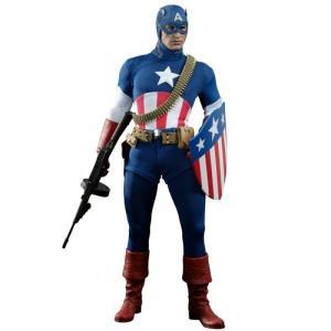 キャプテン アメリカ ホットトイズ フィギュア おもちゃ The First Avenger Movie Masterpiece Exclusive 1/6 Collectible Figure [Star Spangled Man]|fermart-hobby