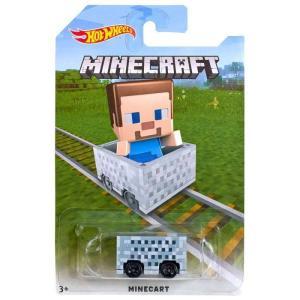 マインクラフト Minecraft おもちゃ・ホビー Hot Wheels Minecart Die-Cast Car [Steve]|fermart-hobby