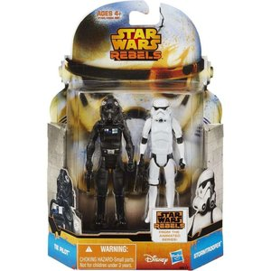 ストームトルーパー Stormtrooper ハズブロ Hasbro Toys フィギュア おもちゃ Star Wars Rebels Mission Series & TIE Pilot Action Figure 2-Pack MS17|fermart-hobby
