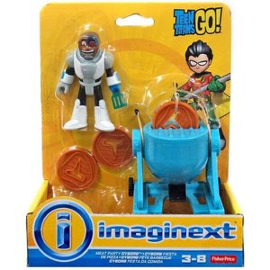 ティーン タイタンズGO! Teen Titans Go! フィギュア Imaginext Meat Party Cyborg 3-Inch Figure Set|fermart-hobby