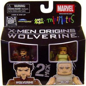 ウルヴァリン Wolverine ダイアモンド セレクト フィギュア おもちゃ Marvel X-Men Origins Minimates Series 26 & Blob Minifigure 2-Pack|fermart-hobby