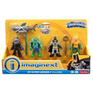 イメージネクスト フィギュア DC Super Friends Batman Heroes & Villains K. Croc, Black Manta, Batman & Aquaman 3-Inch Figure 4-Pack|fermart-hobby