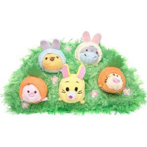 クマのプーさん Winnie the Pooh ディズニー Disney ぬいぐるみ おもちゃ Tsum Tsum and Pals Easter 3.5-Inch Set of 5 Mini Plush|fermart-hobby