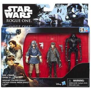 ジン アーソ Jyn Erso ハズブロ Hasbro Toys フィギュア おもちゃ Star Wars Rogue One Cassian Andor, & K-2SO Exclusive Action Figure 3-Pack|fermart-hobby