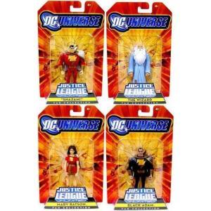 ジャスティス リーグ Justice League Unlimited マテル Mattel Toys フィギュア おもちゃ DC Shazam! Family Set of 4 Exclusive Action Figures|fermart-hobby