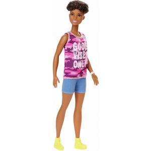 バービー Barbie ぬいぐるみ・人形 Fashionistas 13.25-Inch Doll #128 [Good Vibes Only Shirt]|fermart-hobby