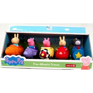 ペッパピッグ Peppa Pig ジャズウェアーズ Jazwares おもちゃ Free-Wheelin' Friends Exclusive Vehicle 5-Pack|fermart-hobby