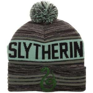 ハリー ポッター Harry Potter バイオワールド Bioworld おもちゃ Slytherin Pom Knit Beanie Hat|fermart-hobby