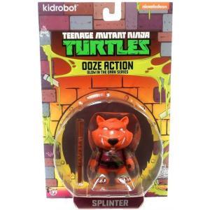 ニコロデオン キッドロボット フィギュア おもちゃ Teenage Mutant Ninja Turtles Ooze Action Glow in the Dark Series Splinter 3-Inch Mini Figure|fermart-hobby
