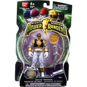 パワーレンジャー Power Rangers バンダイアメリカ Bandai America フィギュア おもちゃ Mighty Morphin White Ranger Action Figure|fermart-hobby
