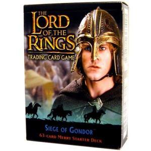 ロード オブ ザ リング The Lord of the Rings デシファー Decipher Inc. おもちゃ Trading Card Game Siege of Gondor Merry Starter Deck|fermart-hobby