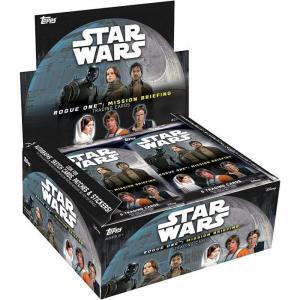 スターウォーズ Star Wars トップス Topps トレーディングカード箱売り おもちゃ Rogue One Mission Briefing Trading Card RETAIL Box [24 Packs]|fermart-hobby