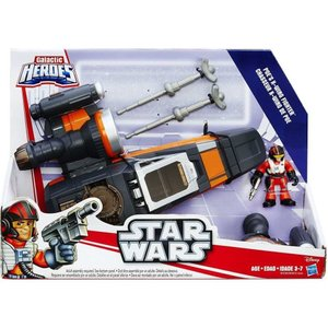 ポー ダメロン Poe Dameron おもちゃ・ホビー Star Wars The Force Awakens Galactic Heroes 's X-Wing Vehicle [Gray & Orange Ship]|fermart-hobby