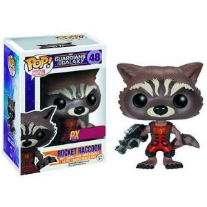ガーディアンズ オブ ギャラクシー ファンコ フィギュア おもちゃ POP! Marvel Rocket Raccoon Exclusive Vinyl Bobble Head #48 [Ravagers Uniform]|fermart-hobby