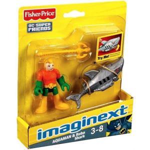 アクアマン Aquaman フィッシャープライス Fisher Price フィギュア おもちゃ DC Super Friends Imaginext & Robo Shark 3-Inch Mini Figure|fermart-hobby