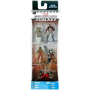 ガーディアンズ オブ ギャラクシー フィギュア Marvel Nano Metalfigs Star-Lord, Rocket, Gamora, Drax & Groot 1.5-Inch Diecast Figure 5-Pack|fermart-hobby