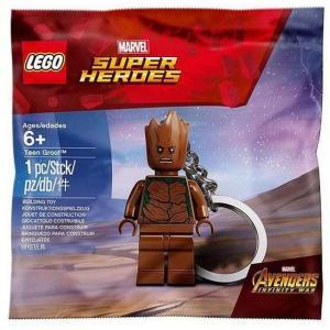 レゴ LEGO ユニセックス キーホルダー Marvel Super Heroes Avengers Infinity War Teen Groot Keychain|fermart-hobby