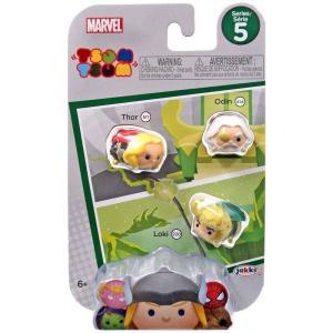 マイティ ソー Thor ジャックスパシフィック フィギュア おもちゃ Marvel Tsum Tsum Series 5 , Odin & Loki 1-Inch Minifigure 3-Pack #511, 414 & 220|fermart-hobby