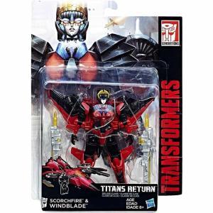 トランスフォーマー Transformers ハズブロ Hasbro Toys フィギュア おもちゃ Generations Titans Return Windblade & Scorchfire Deluxe Action Figure|fermart-hobby