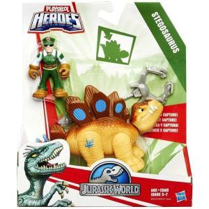 ジュラシック ワールド Jurassic World ハズブロ Hasbro Toys フィギュア おもちゃ Playskool Heroes Dino Tracker Stegosaurus Action Figure|fermart-hobby