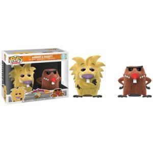 ニコロデオン Nickelodeon フィギュア Angry Beavers POP! TV Norbert & Daggett Exclusive Vinyl Figure [Flocked]|fermart-hobby