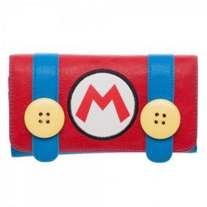 スーパーマリオ Super Mario バイオワールド Bioworld ユニセックス 財布 Nintendo Mario Jrs. Flap Wallet Apparel|fermart-hobby