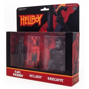 リアクション ReAction フィギュア Hellboy Series 2 Karl Kroenen, Hellboy & Kriegaffe Action Figure 3-Pack|fermart-hobby