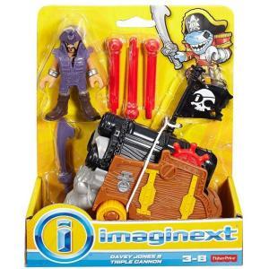 イメージネクスト Imaginext フィギュア Davey Jones & Triple Cannon Figure Set fermart-hobby