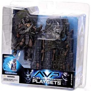 マクファーレントイズ フィギュア おもちゃ Alien vs Predator Alien vs. Predator Movie Playsets Scar Predator with Victim Action Figure Set|fermart-hobby
